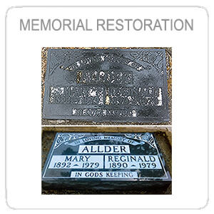 On-site headstone restoration Vancouver Island BC