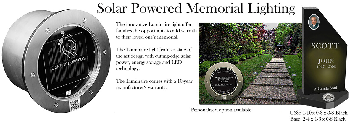 Solar Powered Monument Lighting