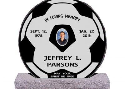 Soccer Ball Headstone